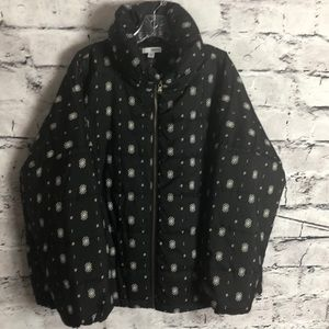 Sonoma Black Aztec Design Jacket Size XXL